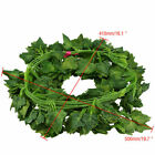 US Artificial Leaf Rattan Ivy Vine Garland Plants Fake Foliage Flower Home Decor