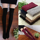 Women Girls school Over Knee Thigh High Stockings Warm Knitted long Socks Tights