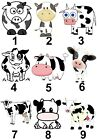Cow Small or Large Sticky White Paper Stickers Labels NEW