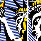 """18W""""x28H"""" I LOVE LIBERTY by ROY LICHTENSTEIN - STATUE FREEDOM CHOICES of CANVAS"""