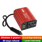 150W DC 12V to 110V AC Power Inverter Travel Charger w/ Outlet + 2 USB /.Charger