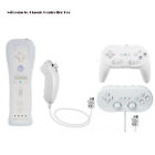 White Remote Controller & Nunchuck Classic Controller for Nintendo Wii