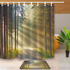 Sunshines into the woods Shine On The Road Fabric Shower Curtain Bathroom 71Inch