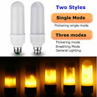 E27/B22 5/6W LED 1800K Flicker Flame Fire Yellow Corn Light Lamp Bulb AC85V-265V