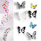 18/36 Pcs 3d Diy Wall Decal Stickers Butterfly Home Room Art Decor Decorations