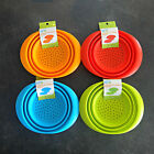 silicone collapsible colander strainer large 7 5 inch space saver 4 colors