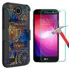 For LG X Charge/Fiesta LTE/LV 7 Case With Kickstand Belt Clip + Screen Protector