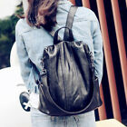 Convertible Faux Leather Backpack Rucksack Daypack Shoulder Bag Purse Tote Bag