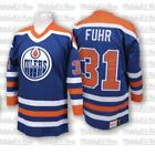 Mitchell  Ness Grant Fuhr 1986 87 Authentic Jersey Edmonton Oilers Blue