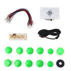 Arcade Game DIY Kits LED USB Encoder + Joystick + Push Buttons For MAME PC