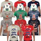 Novelty Christmas Reindeer Snowman T-Shirt  Mens Size