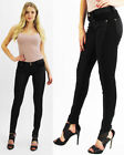 New Ladies Girls Skinny Black PU Jeggings Pants Leather Party Look Stretch Jeans