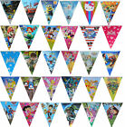 THEMED FLAG BANNER TRIANGLE BUNTING BIRTHDAY PARTY SUPPLIES