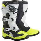 Alpinestars NEW Mx 2018 Tech 3S Black/White/Fluro Kids Motocross Dirt Bike Boots