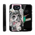 For LG K4 / Optimus Zone 3 / Rebel Dual Layer Hybrid Kickstand Fitted Case Cover