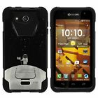 For Kyocera Hydro Wave / Hydro Air Dual Layer Hybrid Kickstand Fitted Case Cover