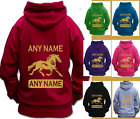 PERSONALISED HORSE RIDING SHOWING HOODIE Children & Adult WELSH TYPE COB HORSE
