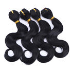 "4pcs/pack 8"" Body Wavy Synthetic Hair Weaving Weft Bundle Hair Extensions 140g"