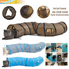 Hot Collapsible Pet Cat Toy Tunnel 2 Holes Easy Dry Kitty Rabbit Tent Play Toys