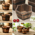 Flower Planter Wooden Garden Treasure Round 4Style Barrel Outdoor Pot Home Decor