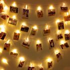 10/20/40LED Photo Peg Clip Fairy String Light Wedding Xmas Hanging Picture Decor