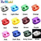 5mm Hole Plastic Colorful Cord Lock Bean Toggle Clip Stopper Apparel Shoelace