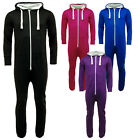 Men Ladies Womens All IN ONE PIECE Hooded ZIP UP Jumpsuit Playsuit Tracksuit