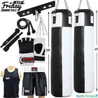 7 Pcs Heavy Punch Bag Set MMA Gloves Ceiling Hook Boxing Vest Short Chain Rope