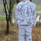 Winter Ghiliie Suit Snow White Camouflage Jacket Pants Hunting Fishing Clothing
