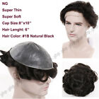 French Lace with Skin Front Toupee Men's Hairpiece Human Hair Replacement System