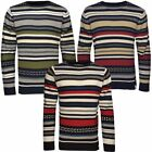 Soulstar Retro Stripe Knitted Jumper  Mens Size