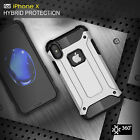 Shockproof Armor Rubber Hybrid Heavy Duty Hard back Case Cover For iPhone X