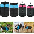 Fashion Waterproof Pet Small Dog Clothe Warm Padded Zipper Coat Vest Jacket S-XL