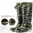 New Men's waterproof shoe Rain Wading Boots Camouflage glazed boots Thick inside