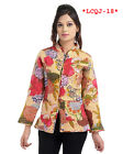 Indian Women Girl's Cotton Quilted Jacket Coat Outwear Floral Print Coat Blazer