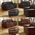 New Verona Bonded Leather Sofa - Black , Brown  - 3 2 1 Seaters