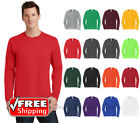 Ring Spun Cotton Long Sleeve T Shirt Mens Blank Casual Plain Tee Sport PC450LS image