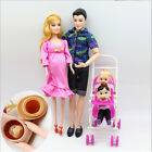 6pcs/lot Dolls Family Educational Real Pregnant Doll Happy Family for Barbie TH