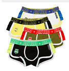 Pink Heroes 4pcs/lot Men Boxers Underwear Breathable Cotton Flat Foot Underpants