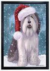 Let it Snow Christmas Polish Lowland Sheepdog Framed Canv...