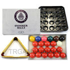 Snooker Balls & Wooden Triangle Rack & Tray Set - 2 Inch & 2-1/16 Inch Available $54.39 AUD on eBay