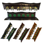 Luxury 6 Brass Clips Wooden Wall Cue Rack for Pool Billiard Snooker Game Room $45.99 AUD on eBay