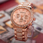 Luxury Fashion Ladies Women's Crystal Stainless Steel Quartz Analog Wrist Watch