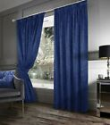 Crushed Velvet Lined Pencil Pleat Curtains- Mink, Charcoal or Black Modern Look