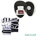 Boxing Bag Gloves Focus Pads Set Fight Gym Training Cut Finger Punching Mitts