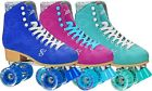 NEW Brushed Suede Candi Girls Carlin High Top Outdoor Quad Roller Skates