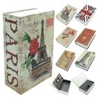 Secret Dictionary Book Safe Hidden Security Cash Money Storage Lock Box Case UK