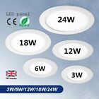3Watt 6 Watt 12W 18W 24W Round Gree LED Recessed Panel Ceiling Light Down Light