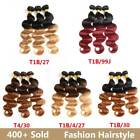 Brazilian Ombre Hair 3 Bundles Body Wave Remy Human Hair Weave Weft Extensions