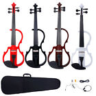 New 4/4 Size 4 Colors Electric Silent Violin Set Brown Black White Red
